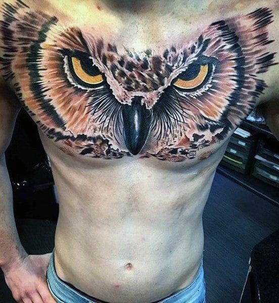 3D Realistic Chest Tattoo