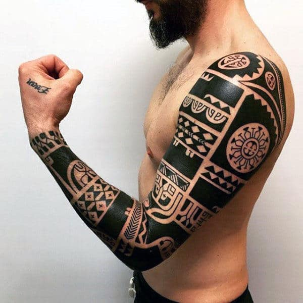 Aztec Tribal Arm Design