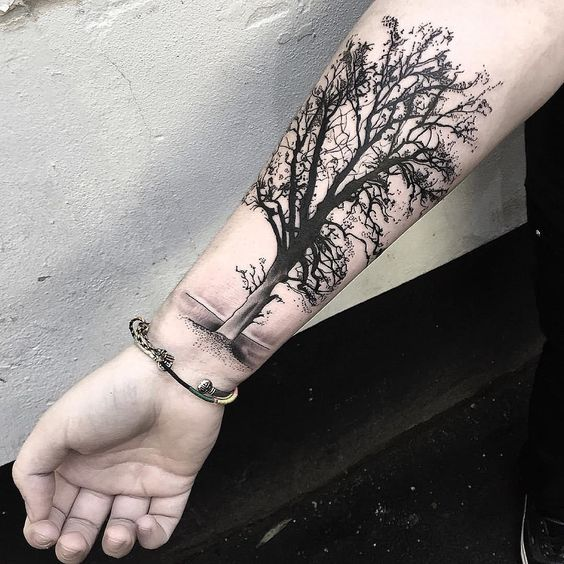 Forearm Tree Tattoos
