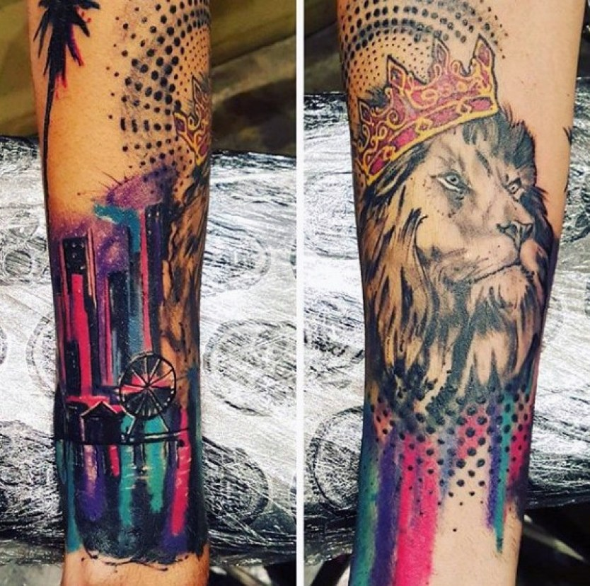 Modern Mens Colourful Tattoo