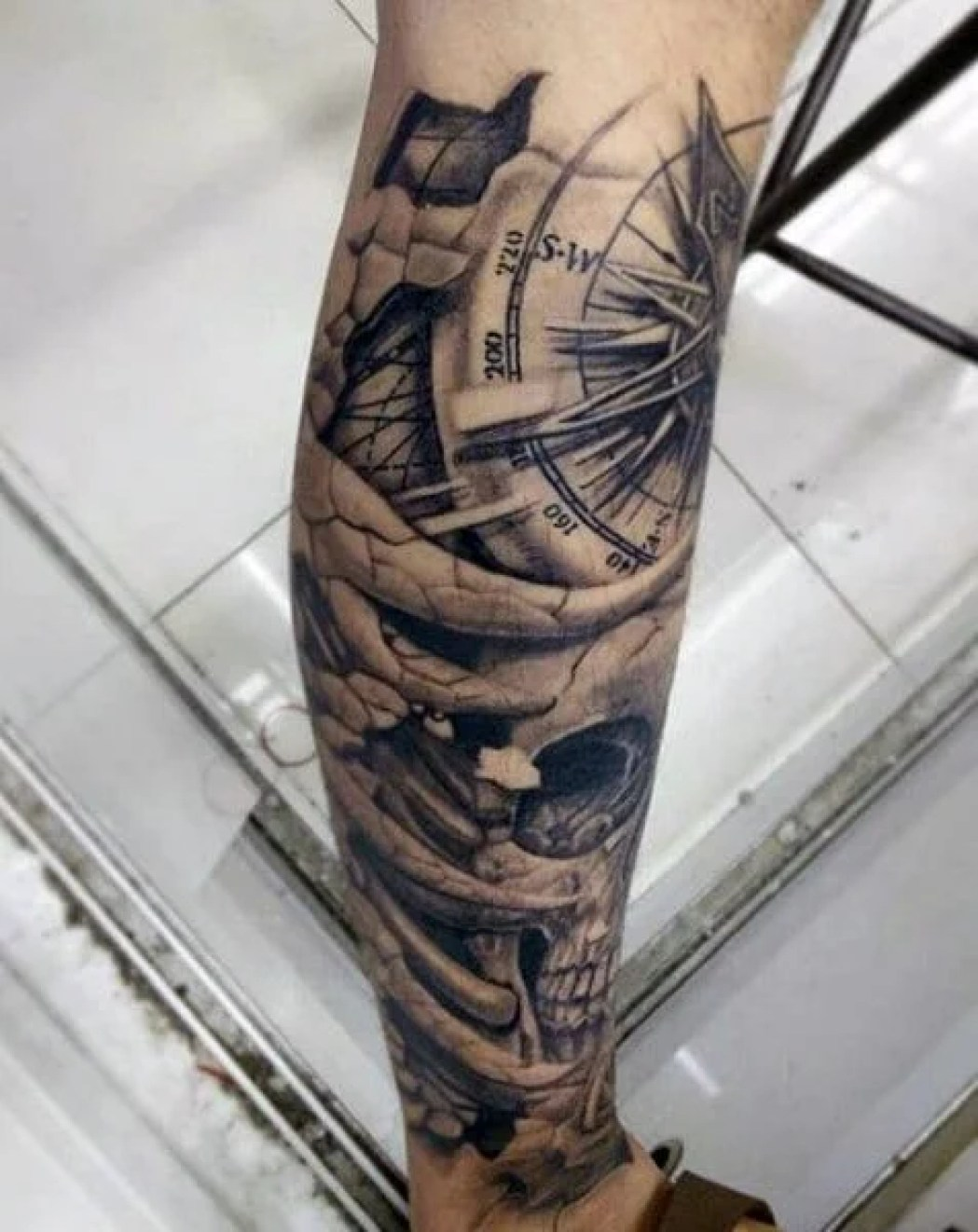 compass tattoo sleeve tattoo