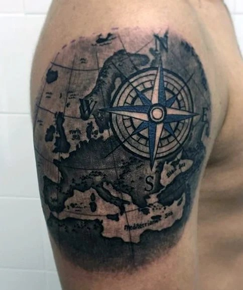 101 Compass Tattoo Designs For Men - Outsons