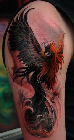 Cool Phoenix Tattoo