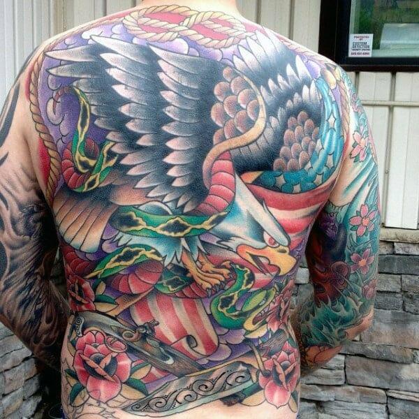 Eagle & Snake Tattoo