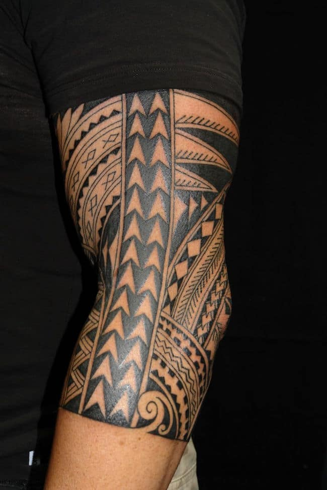 Islander Tribal Arm Tattoo