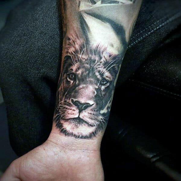 Lion Wrist Tattoo
