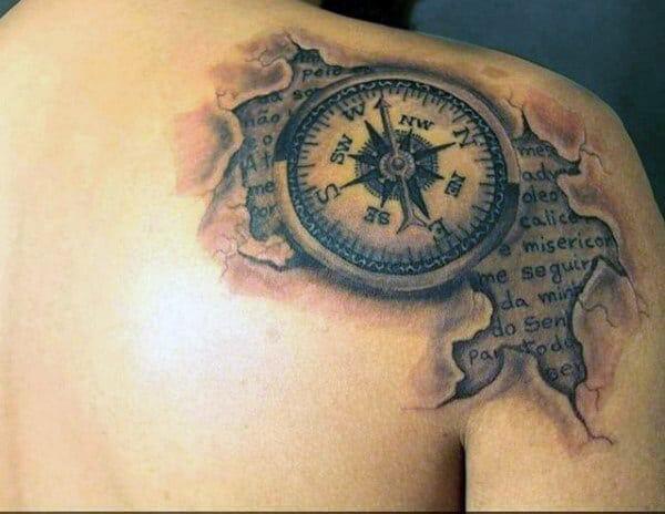 Male Compass Tattoo