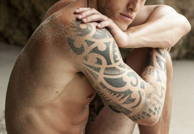 Maori Tribal Arm Tattoo
