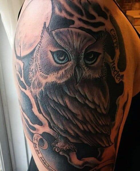 Colourful Owl Tattoos