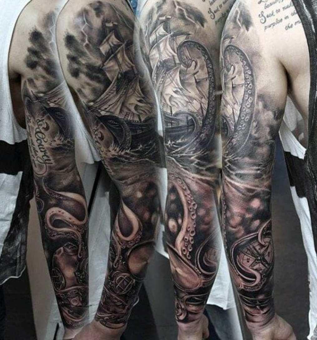 Old Compass Tattoo