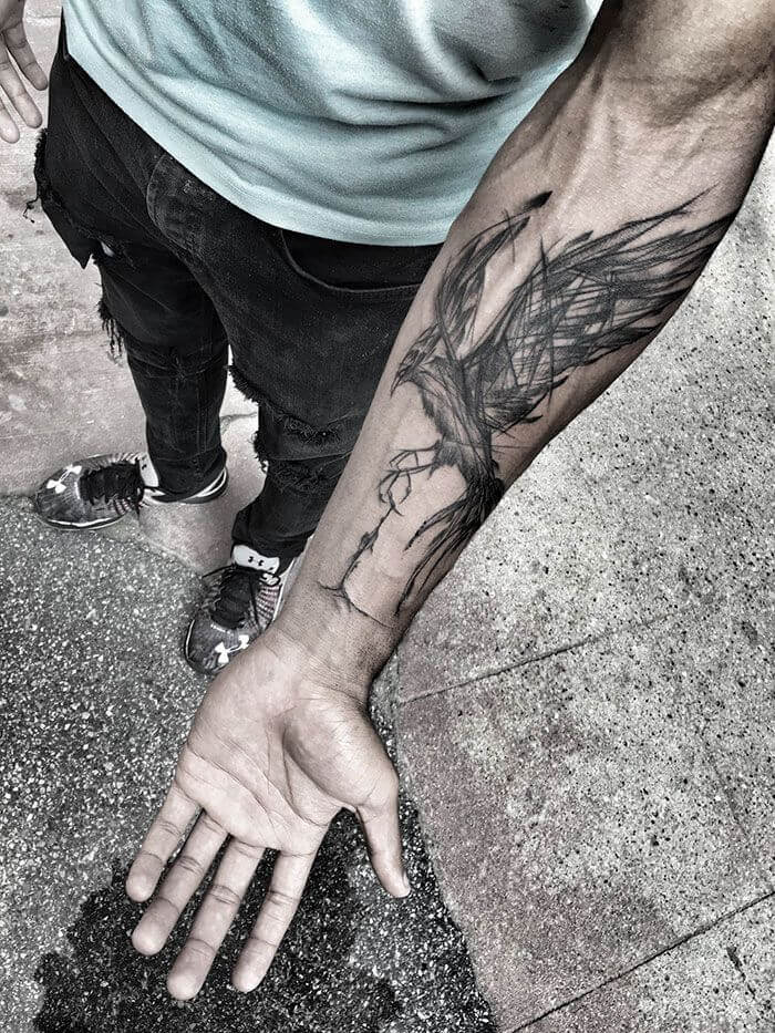 Phoenix Forearm Tattoo