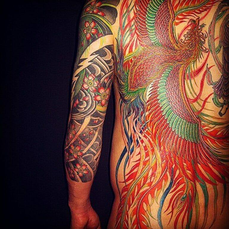Japanese Phoenix Tattoo Design