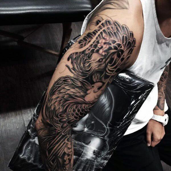 Phoenix Sleeve Tattoo
