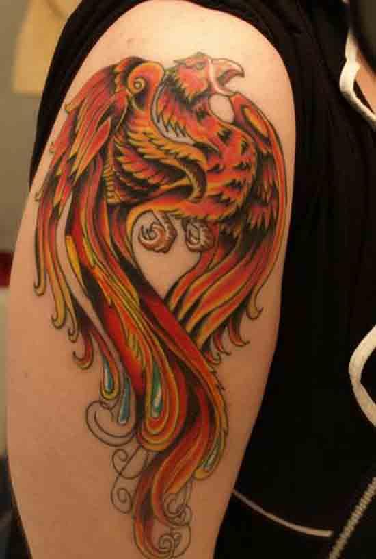 Phoenix Arm Tattoo