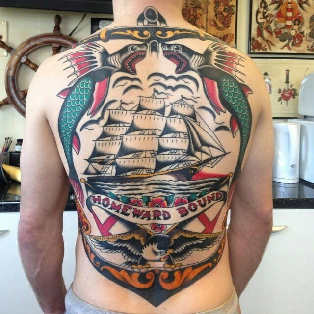 Sailor Jerry Back Tattoo