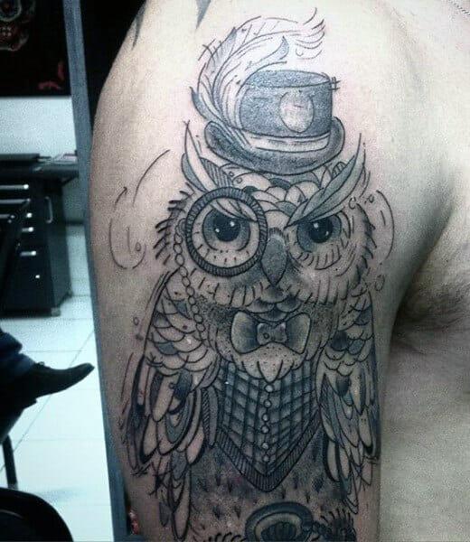 Cool Owl Tattoo