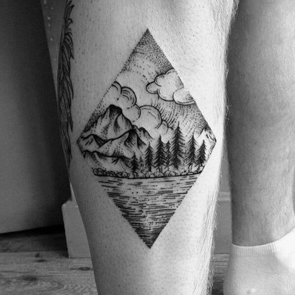 Tree Leg Tattoo Idea