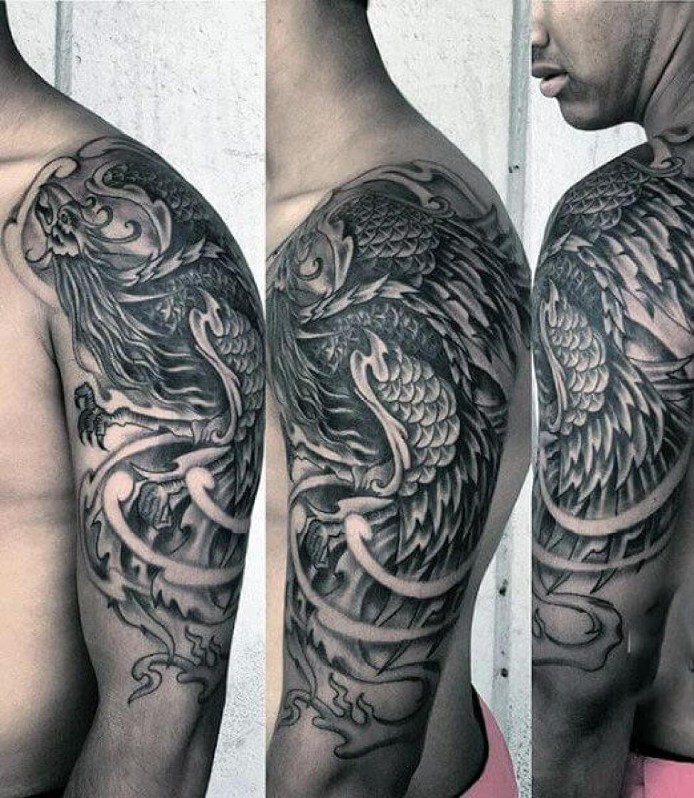 Tribal Phoenix Arm Sleeve