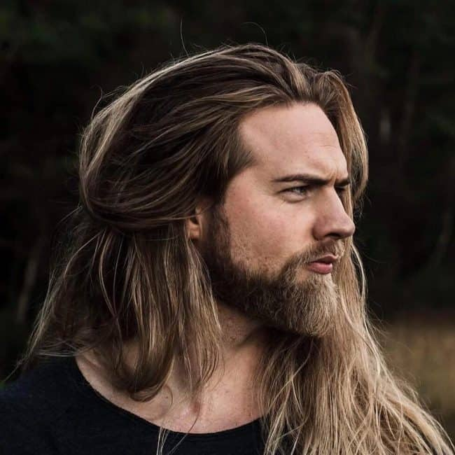 Long Hair and Thick Full Beard