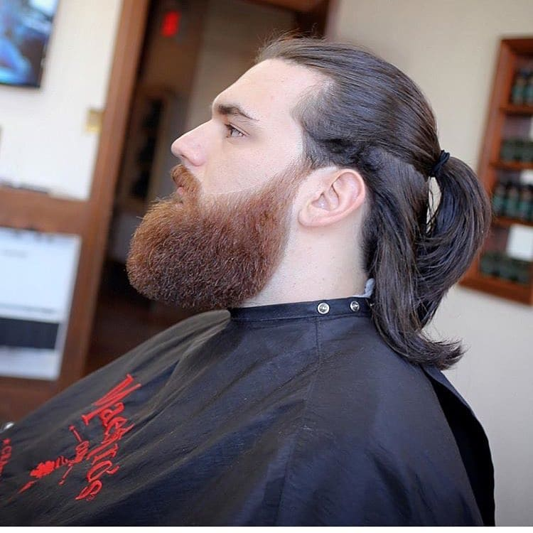 Ponytail & Thick Full Beard