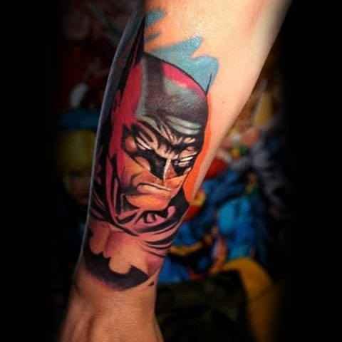 3D Batman Arm Tattoo