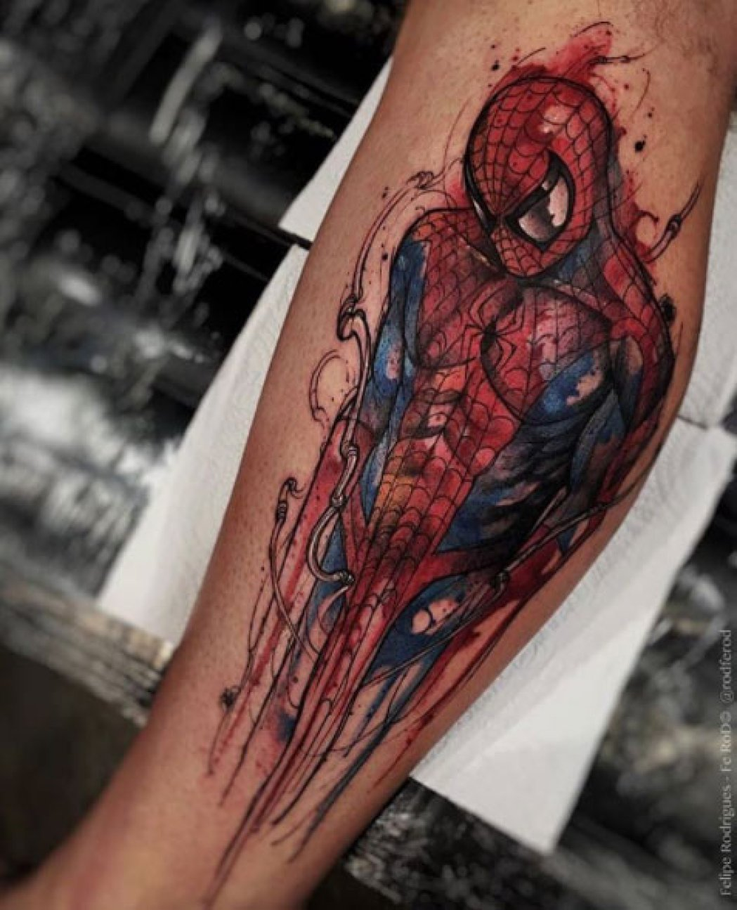 Spiderman Arm Tattoo