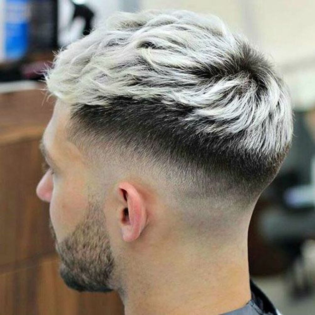 Frosted Tips Highlight Low Fade
