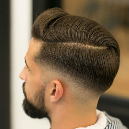 Low Fade with Combover & Parting