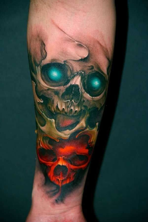 Cool Skull Tattoo