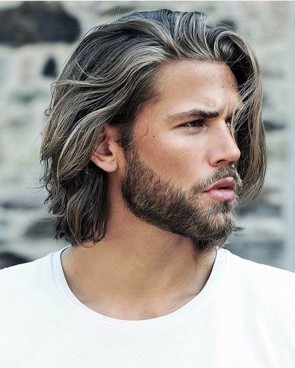 Man with Long Hair & Beard