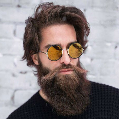 Medium Textured Brown Hair With Bandholz Beard