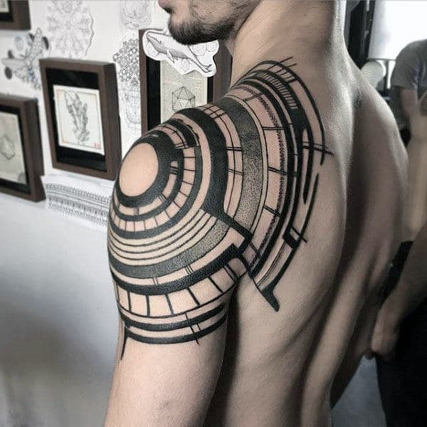 Abstract Tribal Arm & Shoulder Tattoo