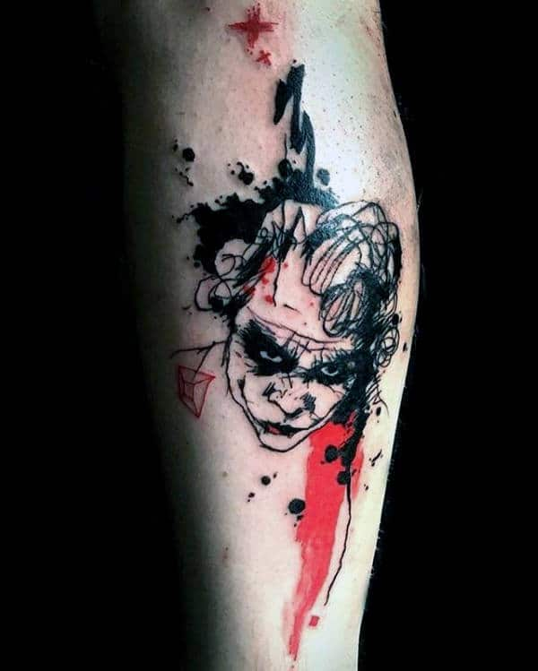 Abstract Mens The Joker Tattoo