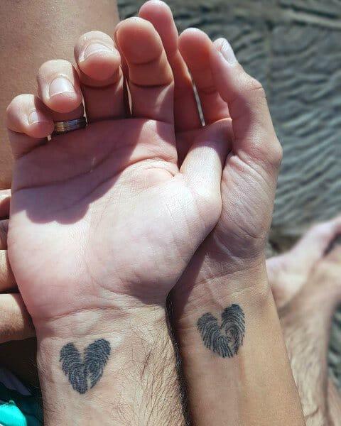 Couples Heart Tattoo