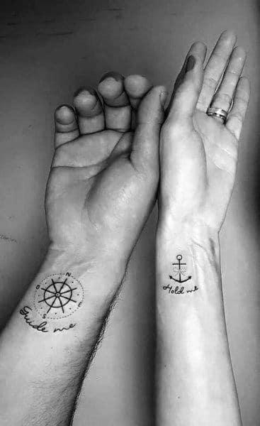 Anchor & Wheel Tattoo