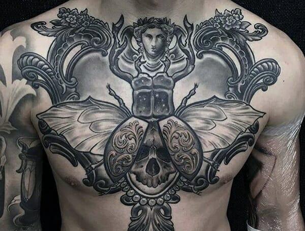 Egyptian scarab tattoo