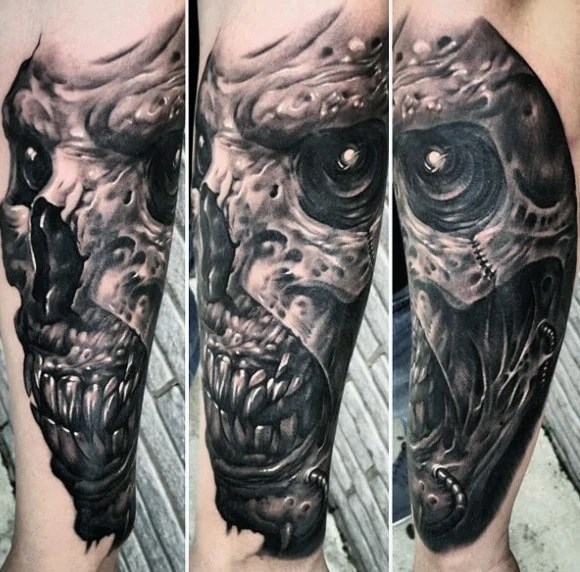 Demon Head Tattoo