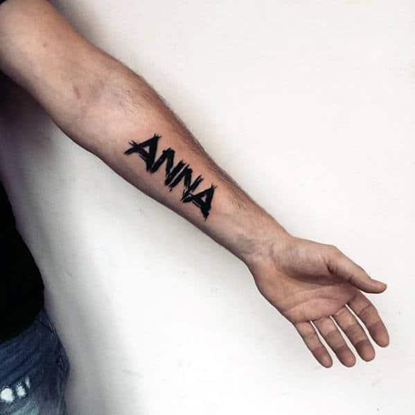 """""""Anna"""" Kids Name Forearm Tattoo"""