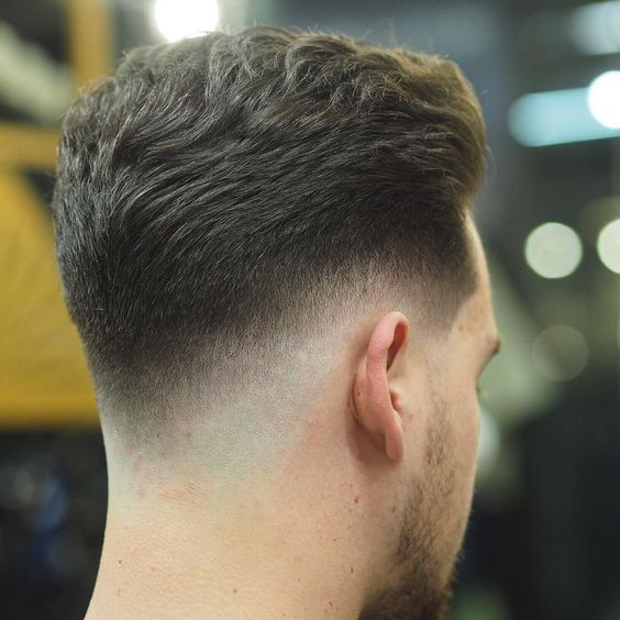 Medium Hair Pompadour with fade