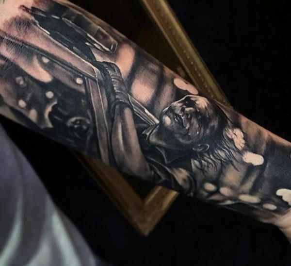 Batman Arm Sleeve Tattoo
