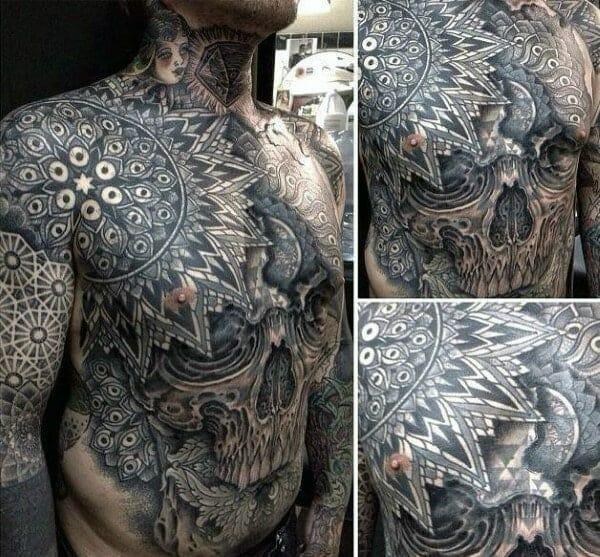 101 Skull tattoo designs for men - sleeve, hand, Native American all ...