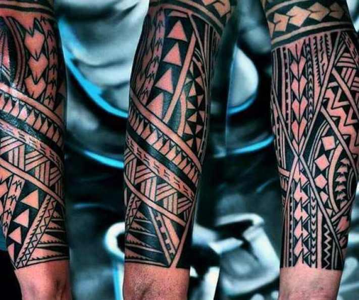 Tribal Black Forearm Tattoo