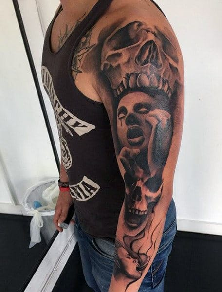 Demonic Tattoo Sleeve