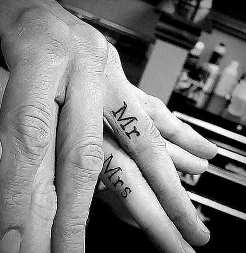 Mr & Mrs Hand Tattoo