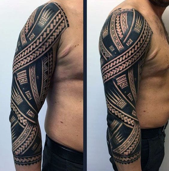 Half Sleeve Tribal Tattoo