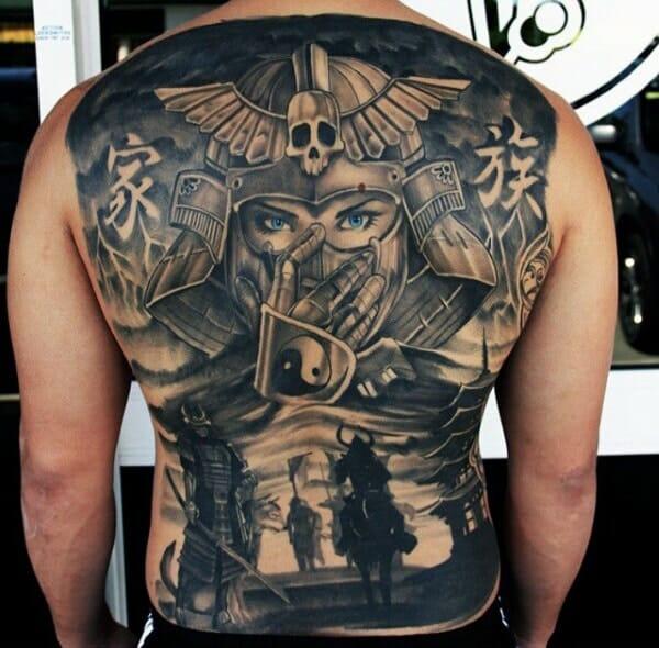 Warrior Back Tattoo