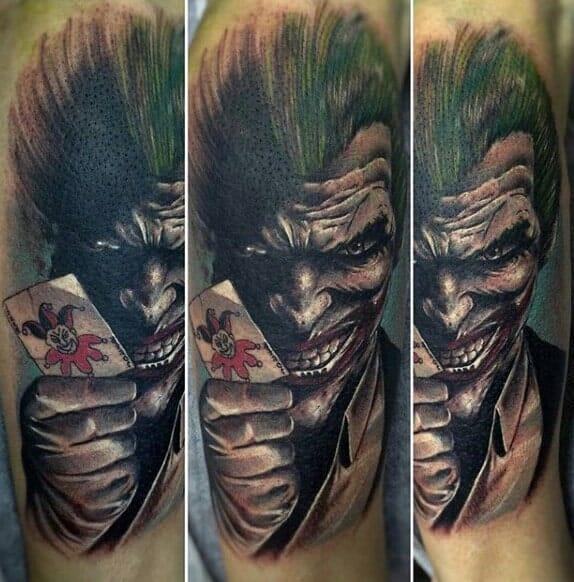 The Joker with Bats Tattoo