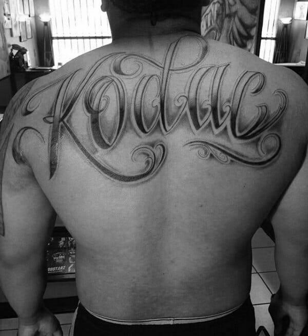 Script Name Back Tattoo