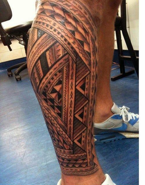 Polynesian leg sleeve