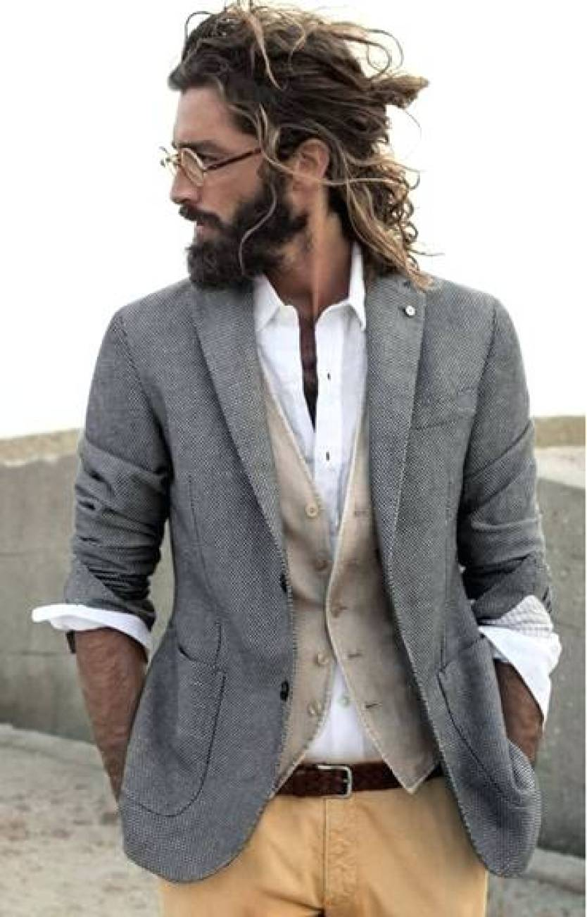 Long Hair With Beard